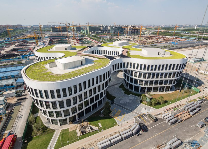 MVRDV completes flower-inspired office block near Shanghai Hongqiao Airport
