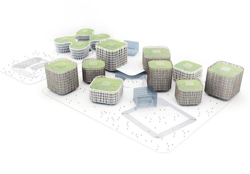 MVRDV completes flower-inspired office block near Shanghai Hongqiao Airport