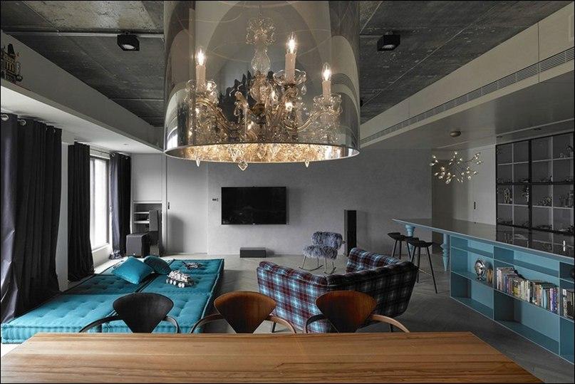 Стильный интерьер квартиры At Will разработала студия Ganna Design.