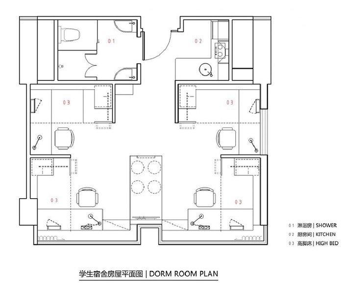 Как разместить 4-х студентов на 27-ми квадратных метрах: реальный пример из Гонконга