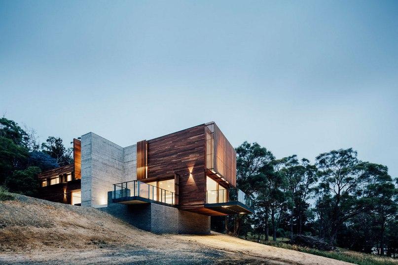 Неподалеку от города Балларат в Австралии, раскинулся Dawes Road House — проект современного частного дома от компании Moloney Architects для семьи из трех человек.