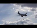 Посадка Airbus A319 ак Azerbaijan Airlines во Внуково