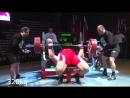 Кирилл Сарычев жим лежа 326 кг, тяга 400 кг и присед 280 кг на 3 раза, подъем на бицепс стоя 115 кг на 8 раз
