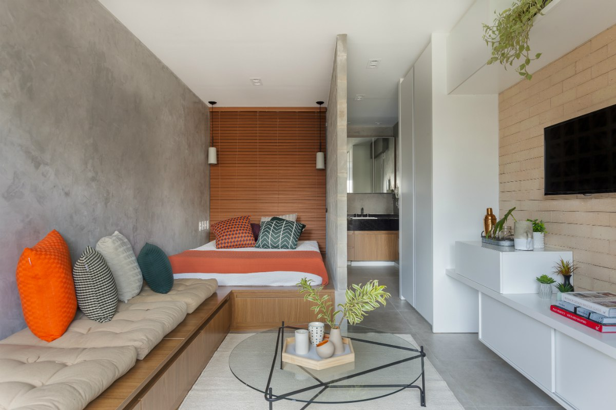 Интерьер квартиры 27 м в Сан-Паулу (Бразилия).
