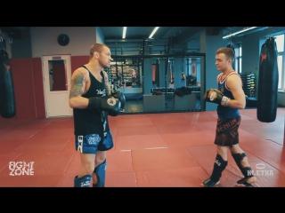 Защита от удара ногой мидл-кик- удары и техника в Тайском боксе от Андрея Басынина