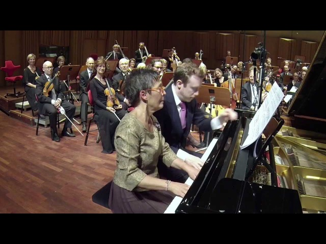 Maria João Pires and Daniel Harding in Griegs Peer Gynt Suite No.1 Morning Mood, piano four hands