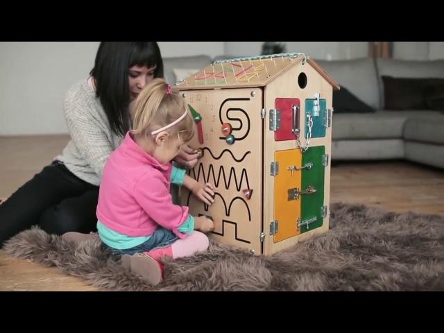 Бизиборд Узнавайка - игровой развивающий комплекс для детей от 8 месяцев до 5 лет