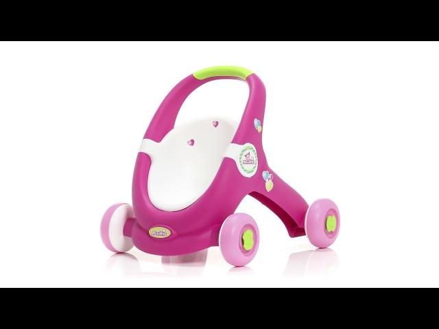Smoby 210201 - Коляска для кукол-ходунки. Minikiss Baby Walker