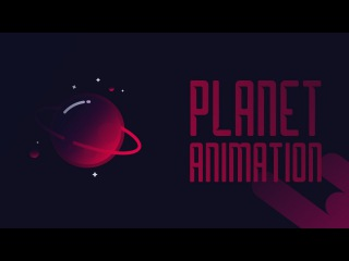 Planet Illustration and animation in After Effects | Previw