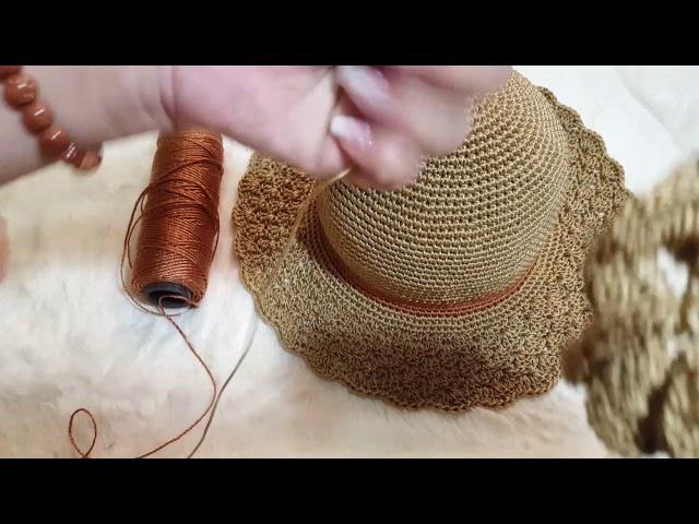 Hoa 2 lớp trang trí nón
