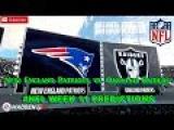 New England Patriots vs. Oakland Raiders  #NFL WEEK 11  Predictions Madden 18
