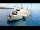 2 Yachts $1 Billion Exclusive Close up of Sailing Yacht and Motor Yacht A 4k