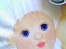 Olhos de bonecas travesseiros - cor: azul marinho, branco, azul petróleo, rústico.