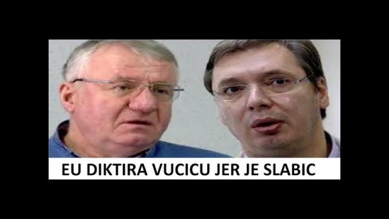 Vojislav Seselj 03.12.2016 - EU UCENJUJE VUCICA JER JE SLABIC !