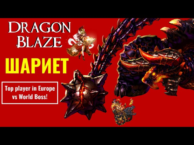Dragon Blaze 12 Босс Шариет! World Boss Shariet vs TOP player in Europe!