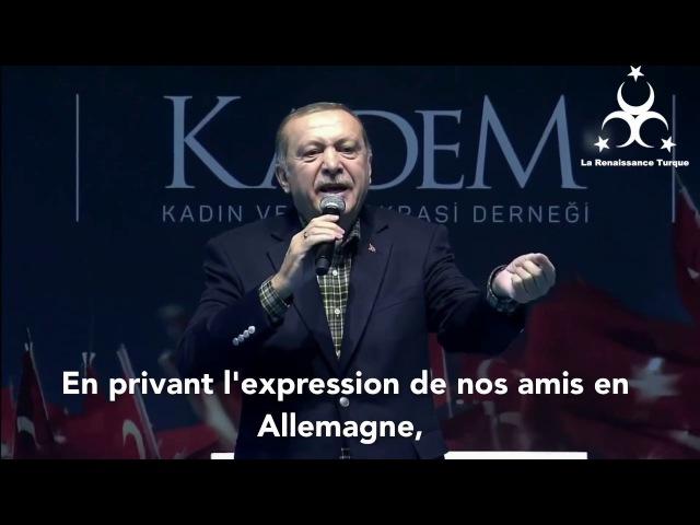Erdogan menace l'Allemagne : Nous allons vous humilier devant le Monde !