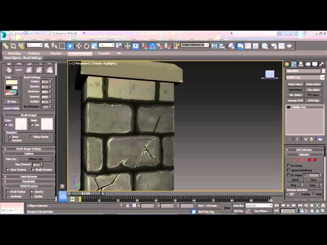 Painting with the viewport canvas in 3ds max