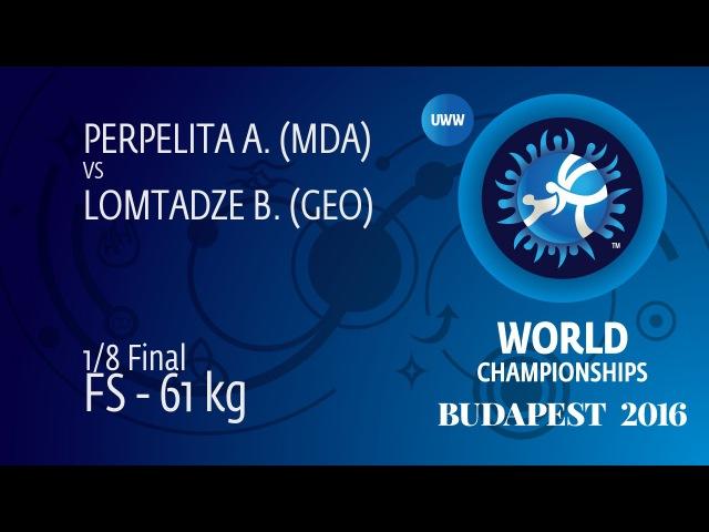 1/8 FS - 61 kg: B. LOMTADZE (GEO) df. A. PERPELITA (MDA), 5-2