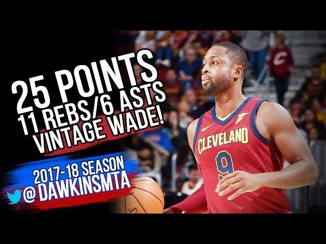 Dwyane Wade Full Highlights 2017.11.05 vs Hawks - 25 Pts, 11 Rebs, 6 Asts, VINTAGE Wade!