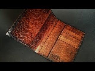 TsarArt / Портмоне под паспорт из кожи индийской кобры.