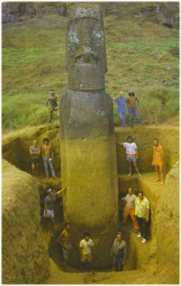 мегалиты и идолы острова пасхи