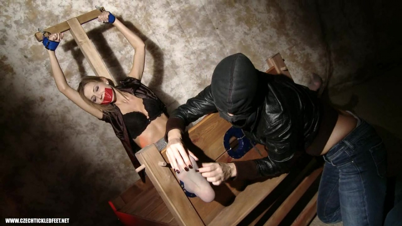 Gagged Eufrat get to know foot tickling (Czech Tickled Feet)