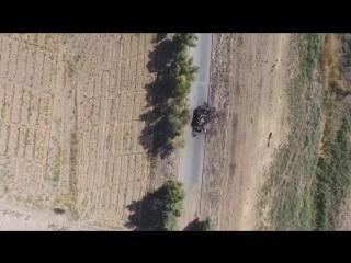 Абрамс с дрона.