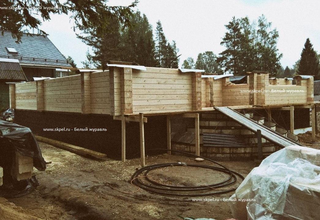 Строительство дома из бруса в садоводстве Ленфильм