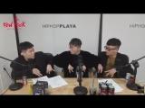 [27.10.2017] HipHopPlaya: Elo and Geegooin teach Hangzoo the AOMG Handsign