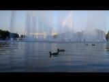 Парк Горького,  музыкальный фонтан, 1 сентября