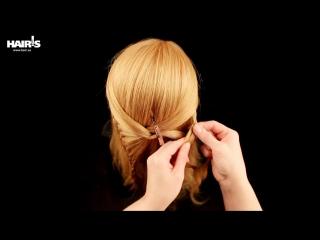 Необычная прическа «Бабочка» с двумя косами - видеоурок (мастер-класс) Hair's How