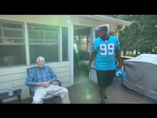 KK surprises 99-year old fan Berry Jacobs on the eve of his 100th birthday!