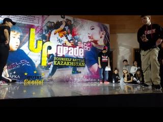 Final Popping Junior - Зура и Богдан (Upgrade Yourself Kz 2017)