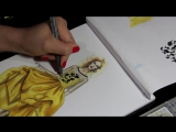 OSCAR DE LA RENTA SILK TAFFETA DRESS (P.2) _ Fashion Drawing