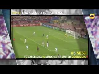 Топ 10 голов Барселоны английским клубам в Лиге Чемпионов УЕФА