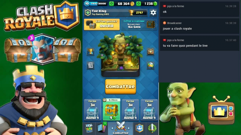 Clash Royale Rush Coffre de Clan | Clash Royale Je joue contre vous