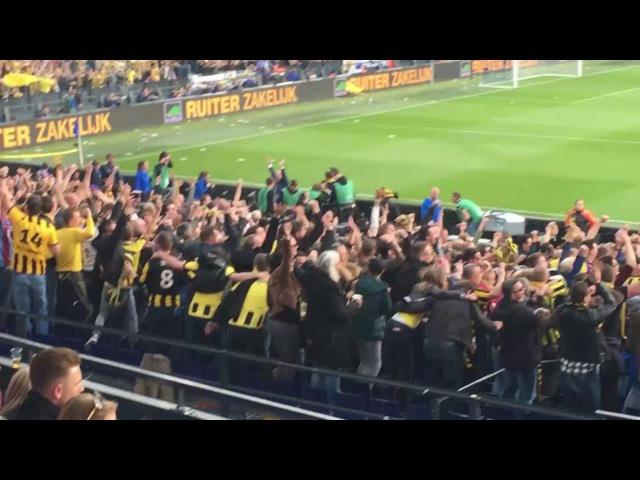 Feest Vitesse fans bij de 2 0 in de bekerfinale tegen AZ