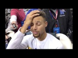 Stephen Curry talks about his possible suspension after mouthpiece incident