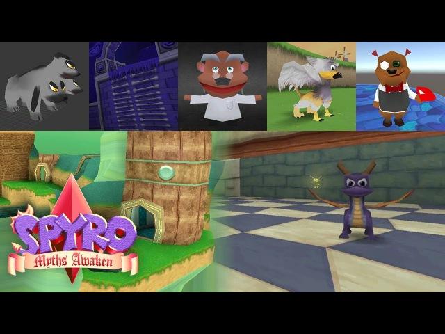 Spyro: Myths Awaken Fangame - World, Design Character Showcase