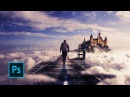 How to Make a Fantasy Photo Manipulation Walking in the Clouds Photoshop manipulation tutorials