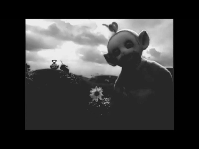 Horror story - TELETUBBIES Black and white