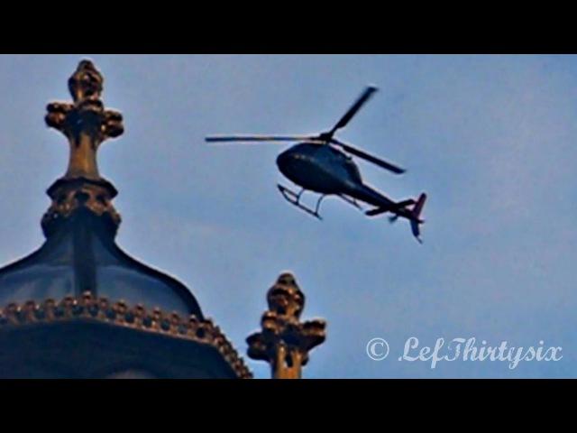 Aerospatiale AS-355 Ecureuil II fly over London
