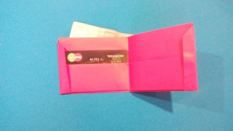 Как сделать Кошелек из бумаги. How to make a wallet out of paper. 如何做一个钱包的纸