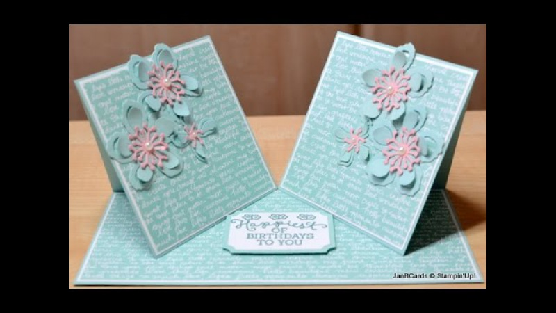 No.178 - Double Twisted Easel Card - JanB UK Stampin' Up! Demonstrator Independent