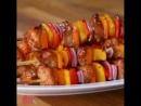 Вкусное мясо на шпажках в духовке (типа шашлыков)