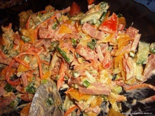 """Салат """"Обжорка""""! Простой салат в приготовлении, без всяких"""