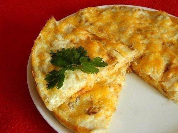 Пирог из лаваша с сыром Ингредиенты: ● 1 упаковка