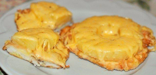 Куриные отбивные с ананасом 1кг куриного филе 1