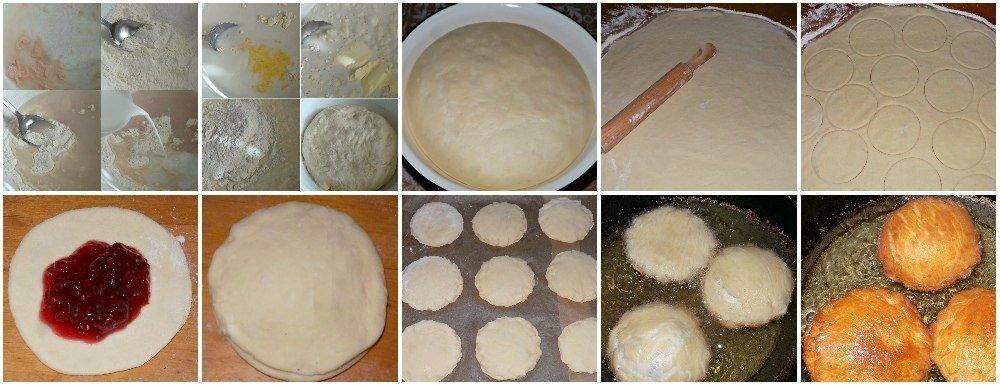Польские пончики с малиновым вареньем Вкуснятина! Ингредиенты: Мука 6-7 стак.возможно