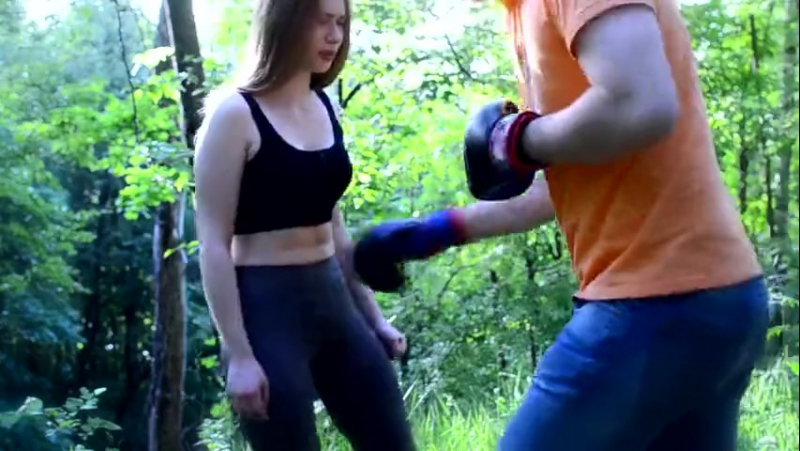 Girl belly punched (boxed)